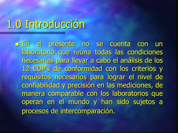 1.0 Introducción