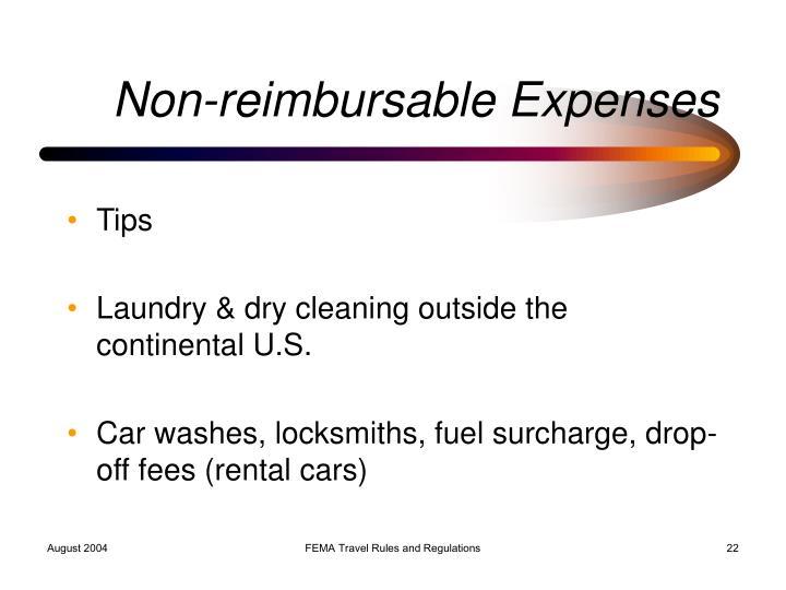 Non-reimbursable Expenses