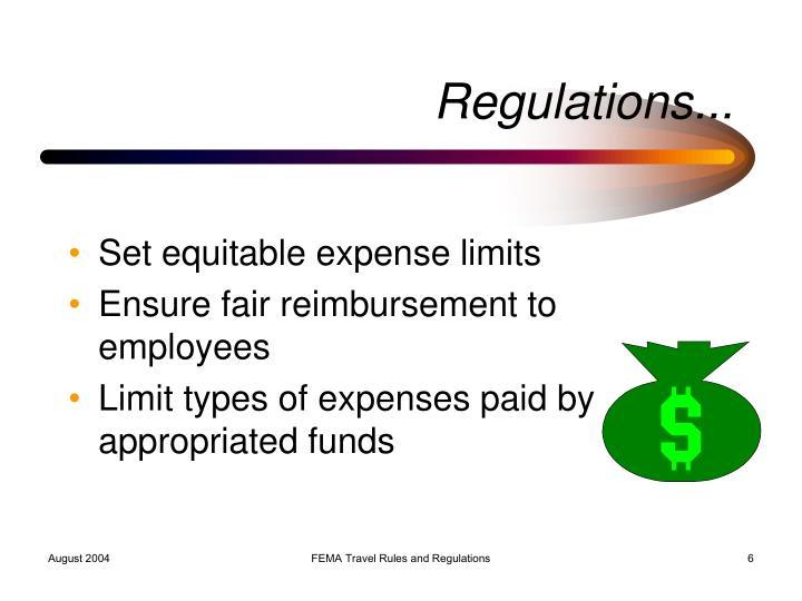 Regulations...