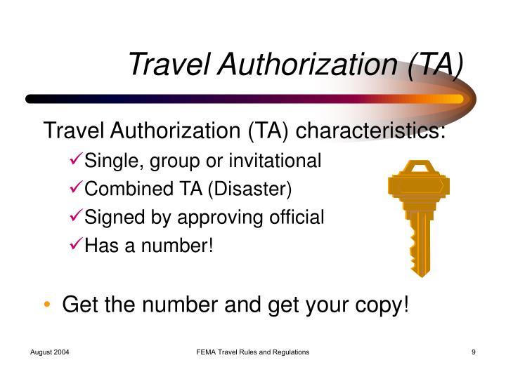Travel Authorization (TA)