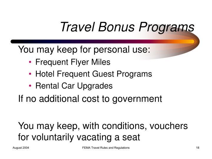 Travel Bonus Programs