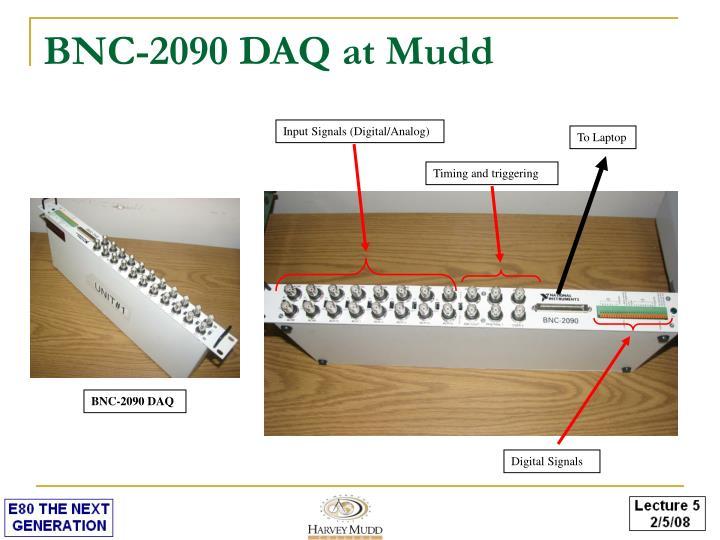 BNC-2090 DAQ at Mudd