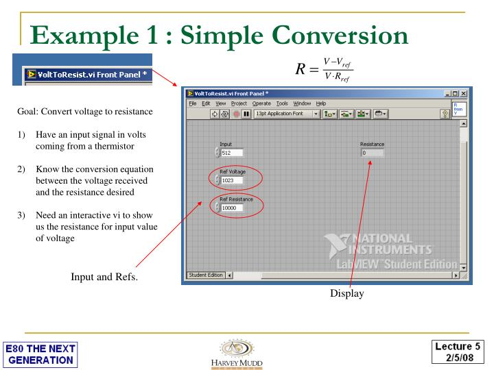 Example 1 : Simple Conversion