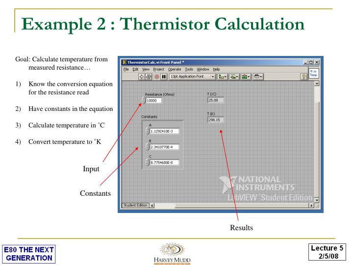 Example 2 : Thermistor Calculation
