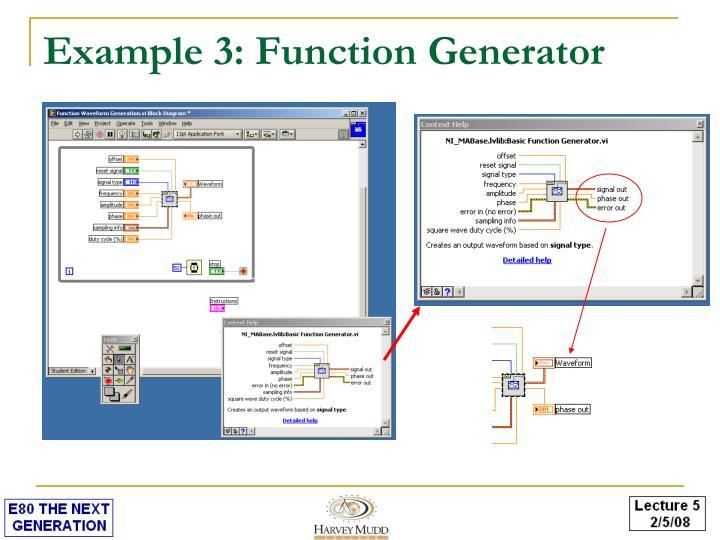 Example 3: Function Generator