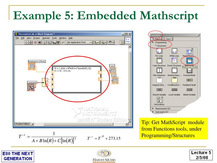 Example 5: Embedded Mathscript