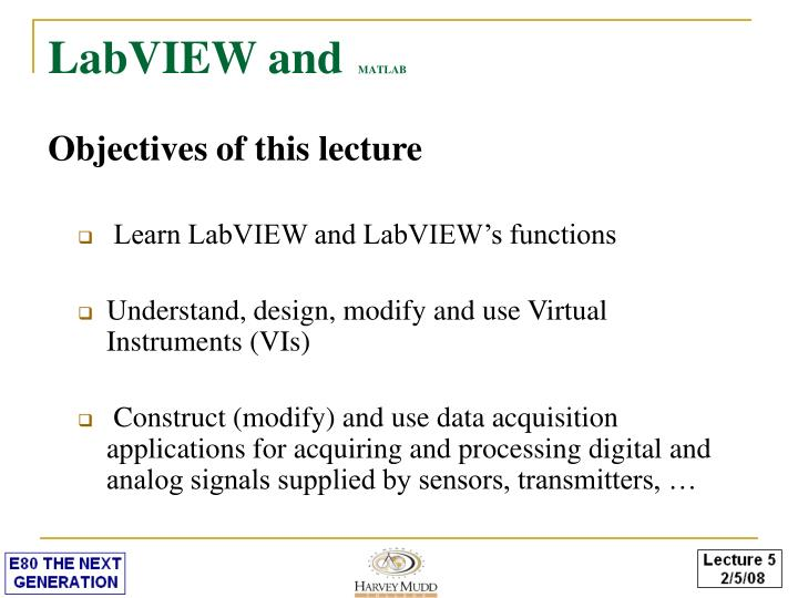 Labview and matlab1