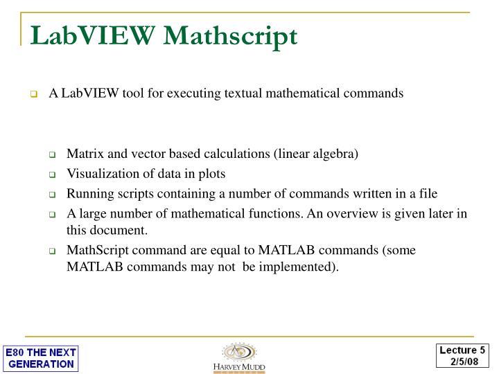 LabVIEW Mathscript