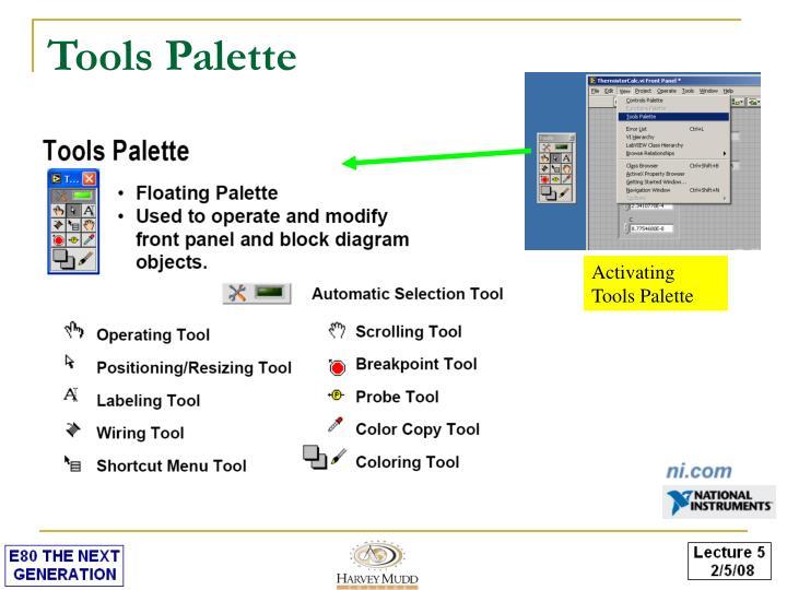 Tools Palette