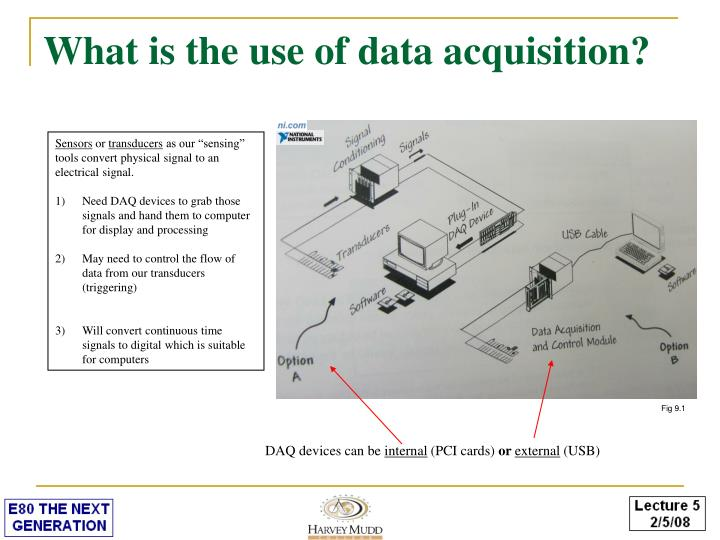 What is the use of data acquisition?