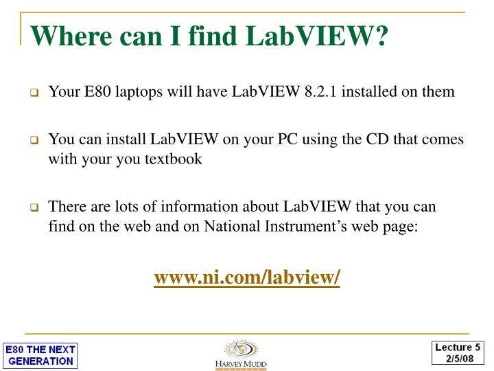 Where can I find LabVIEW?