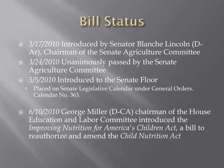 Bill Status