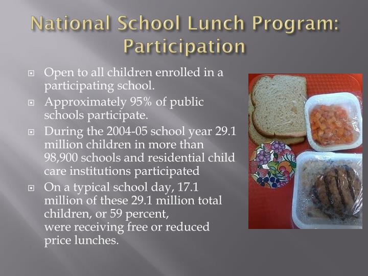 National School Lunch Program: Participation