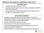 effective principals leadership task force1