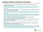 guiding effective practices research