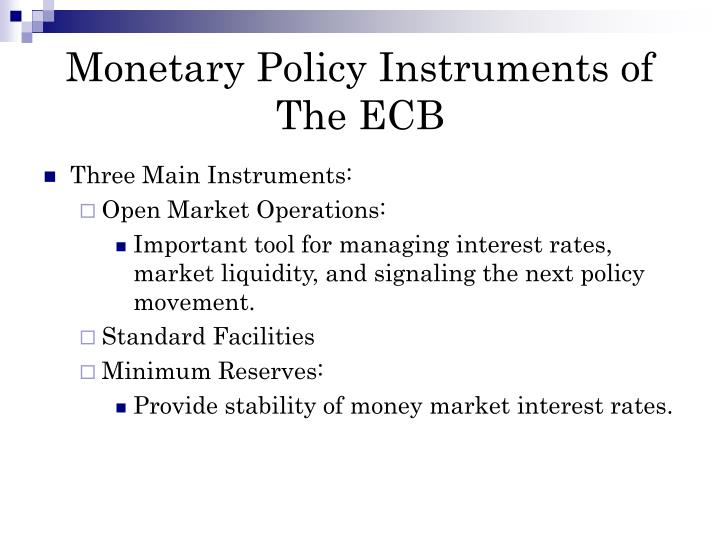 monetary policy and federal open market committee in the united states A nation's central bank to conduct monetary policy (federal reserve the members of the federal open market committee united states entered the.