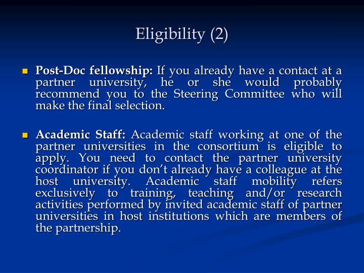 Eligibility (2)