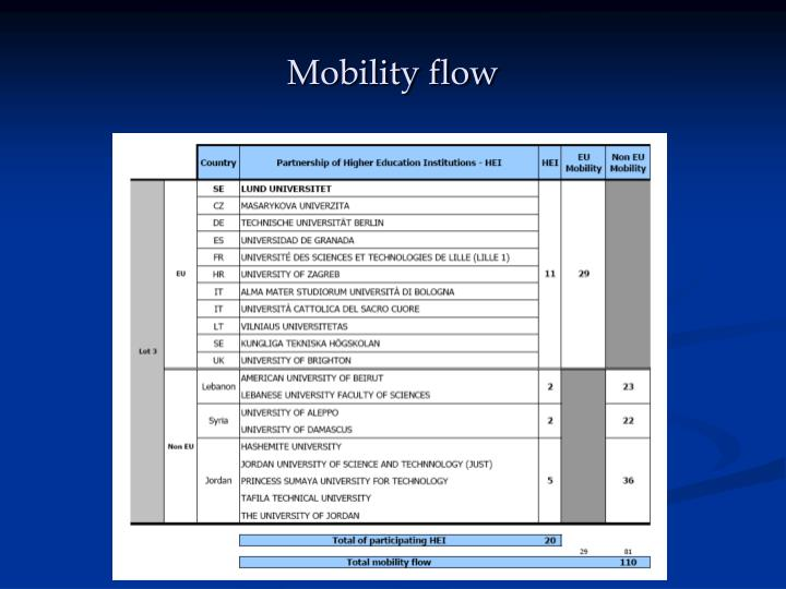 Mobility flow