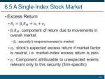 6 5 a single index stock market1