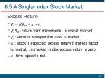 6 5 a single index stock market2