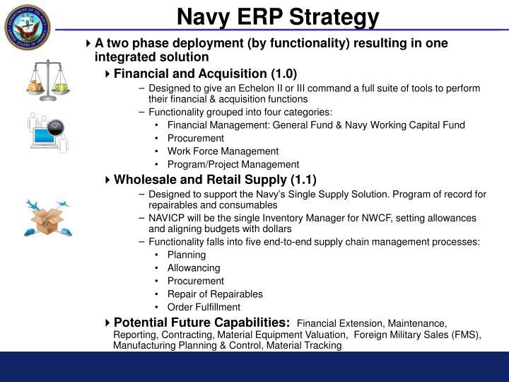 Navy ERP Strategy