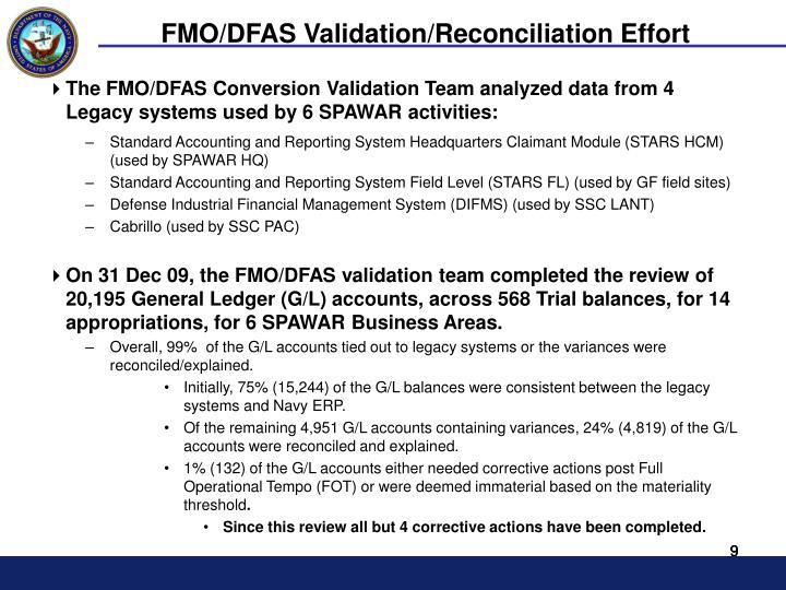 FMO/DFAS Validation/Reconciliation Effort