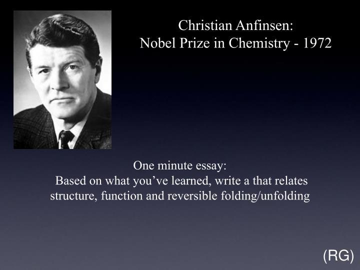 Christian Anfinsen: