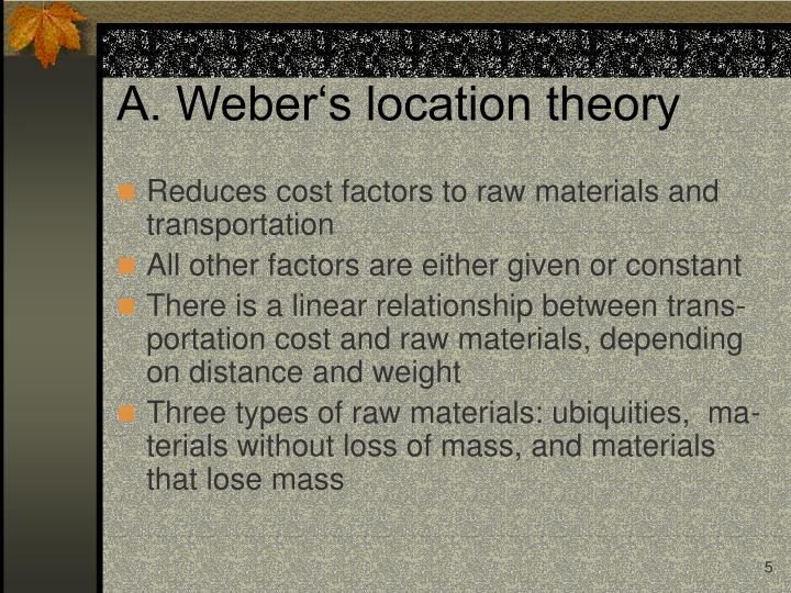 A. Weber's location theory