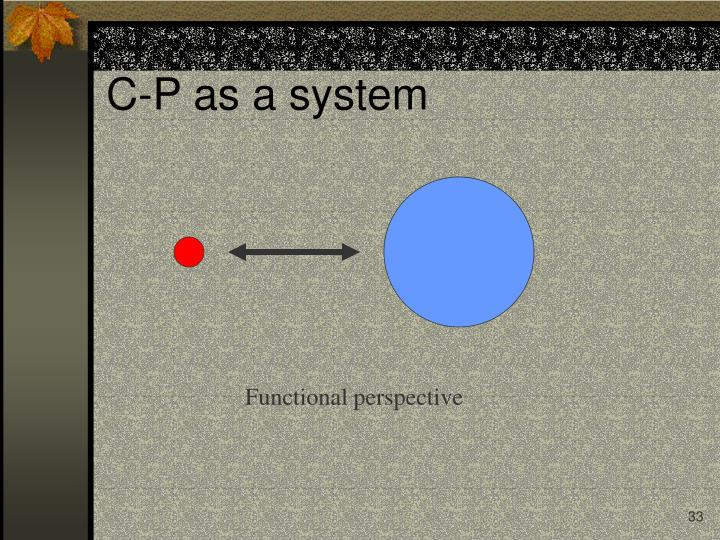Functional perspective