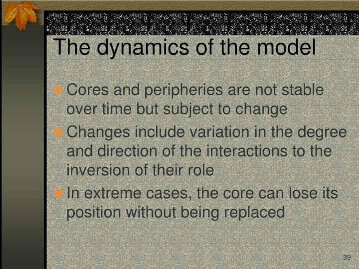 The dynamics of the model