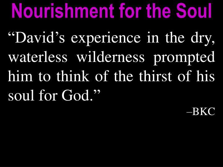 Nourishment for