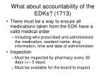 what about accountability of the edks 1713