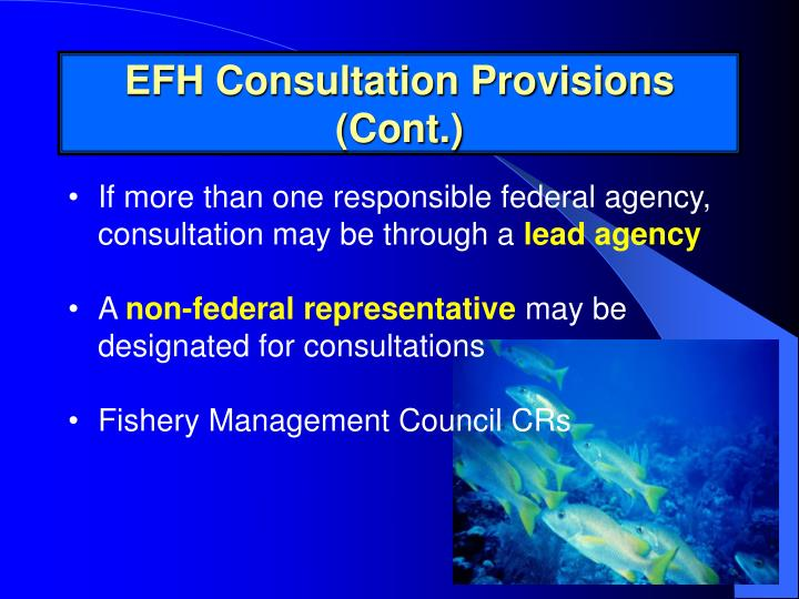 EFH Consultation Provisions (Cont.)