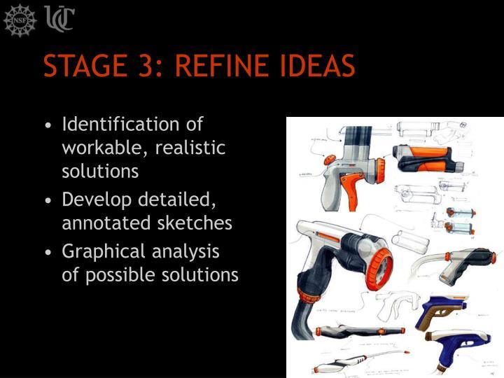 STAGE 3: REFINE IDEAS