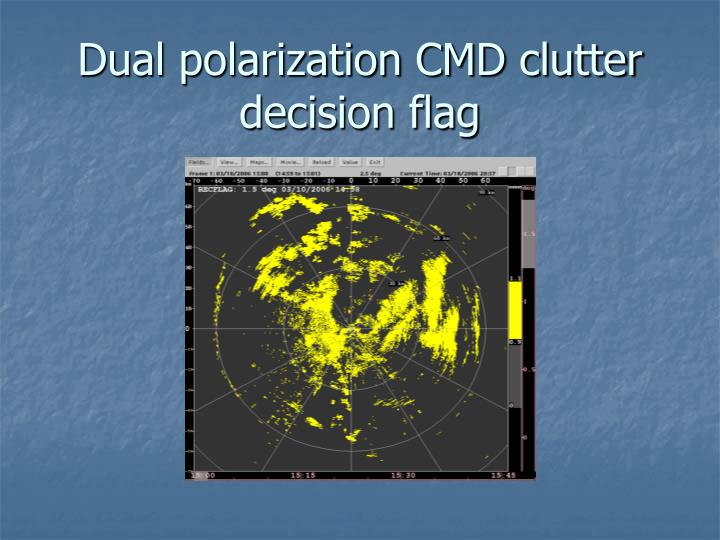 Dual polarization CMD clutter decision flag