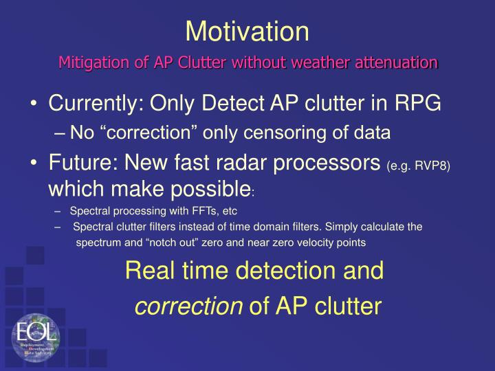 Currently: Only Detect AP clutter in RPG
