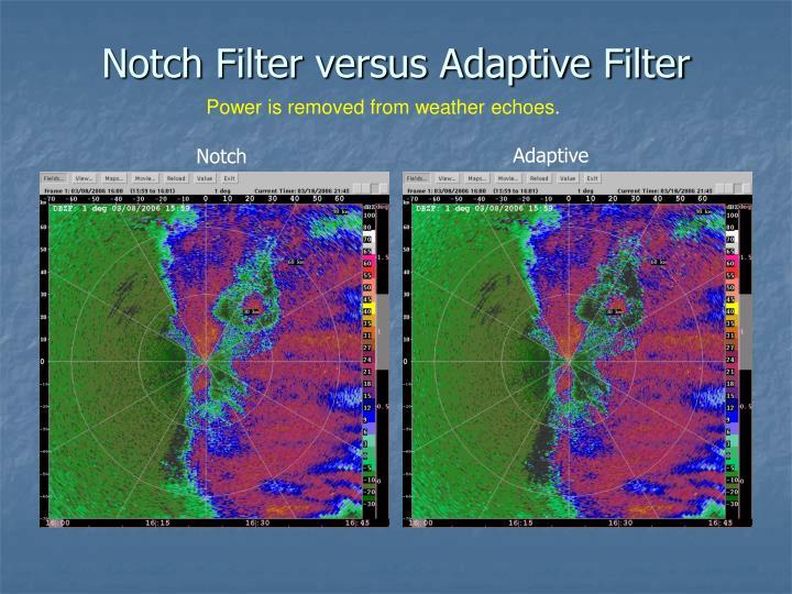 Notch Filter versus Adaptive Filter