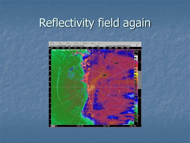 Reflectivity field again
