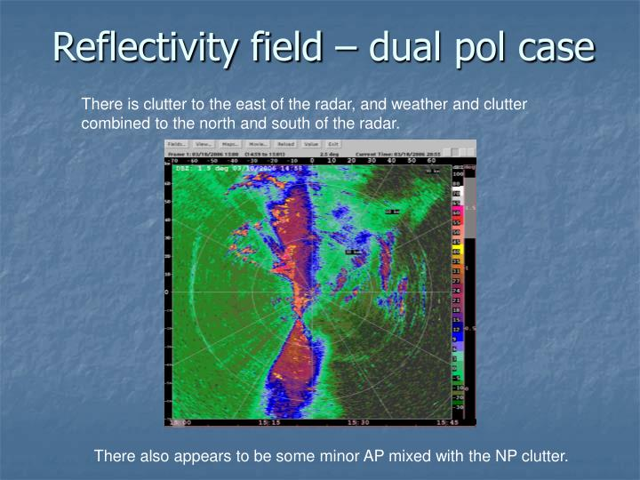 Reflectivity field – dual pol case