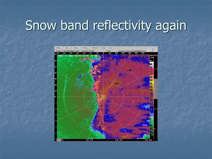Snow band reflectivity again