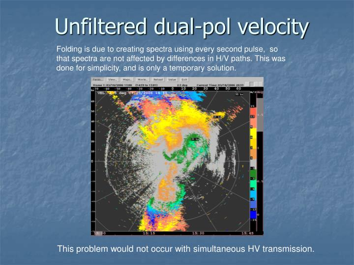 Unfiltered dual-pol velocity