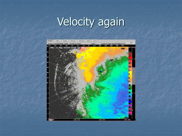 Velocity again