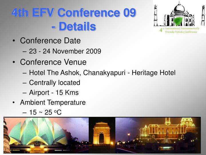 4th EFV Conference 09