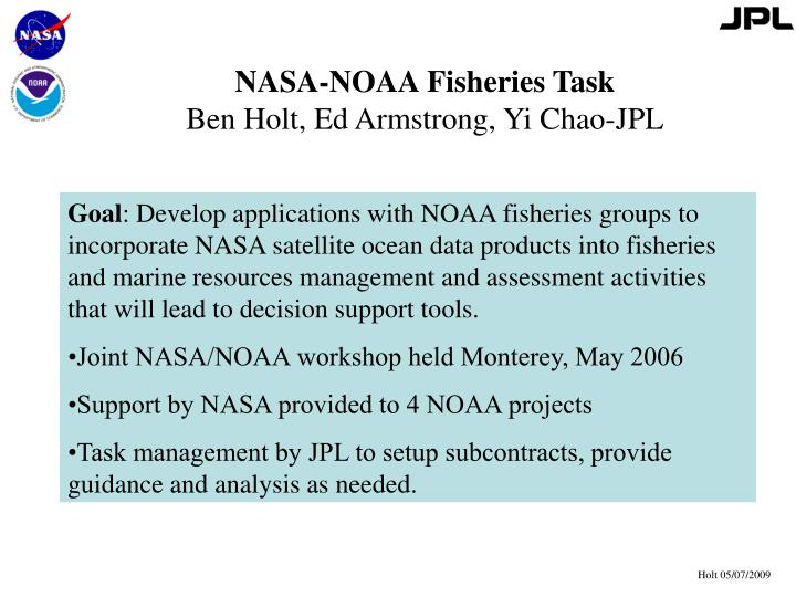 NASA-NOAA Fisheries Task