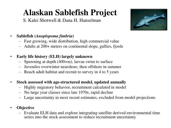Alaskan Sablefish Project