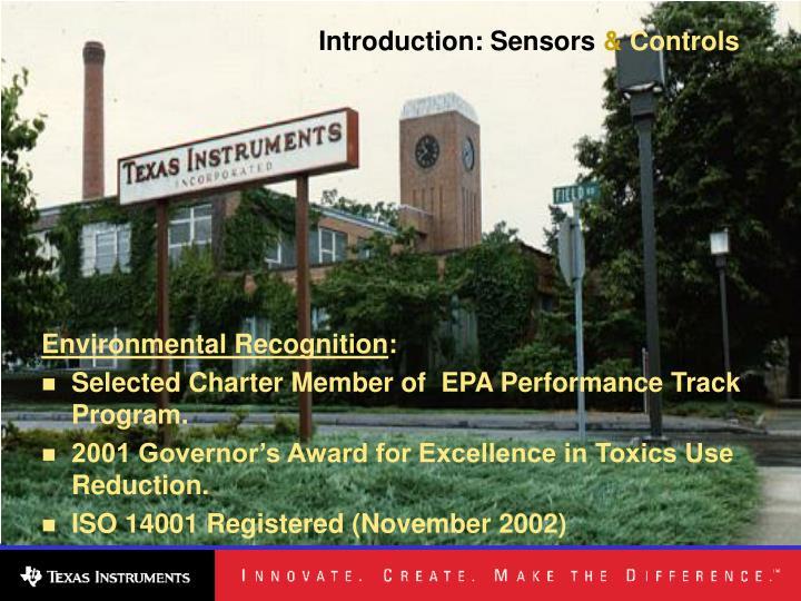 Introduction: Sensors