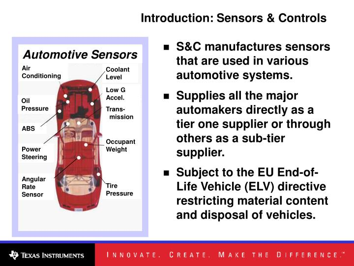 Introduction: Sensors & Controls