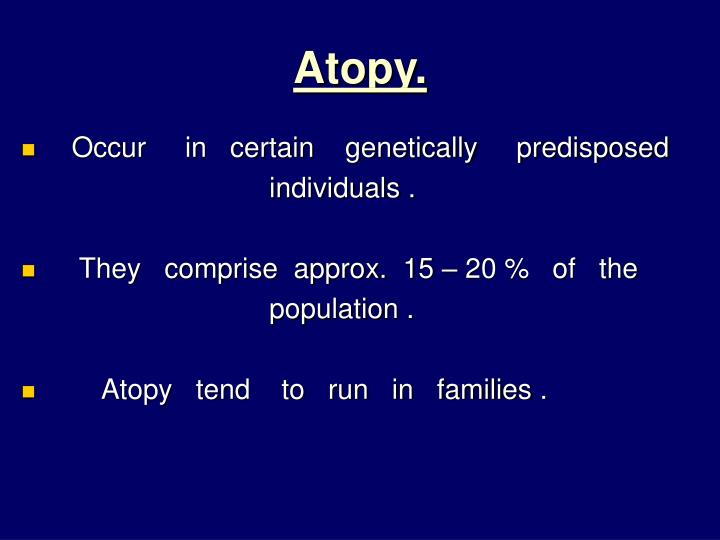 Atopy.