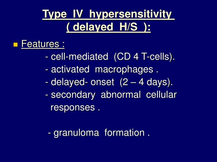 Type  IV  hypersensitivity