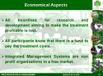 economical aspects